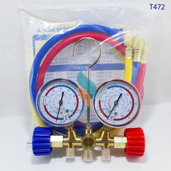 Bộ đồng hồ nạp Gas đôi có dây CT-536G