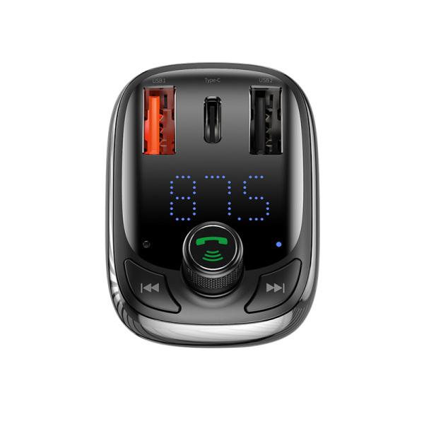 Bộ thu phát Bluetooth MP3 kiêm tẩu sạc nhanh cho Xe hơi ôtô Baseus T-Typed Wireless MP3 Car Charger Hàng chính hãng