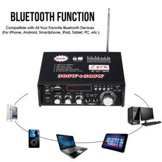 Amply karaoke, Ampli mini công suất lớn, Ampli Mini Karaoke Bluetooth Cao Cấp BT-298A AZONE ông Suất cực đại 600W, chuyên nghe nhạc thumbnail