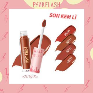 PINKFLASH Son môi dạng lỏng PINKFLASH OhMyKiss màu matte giúp dưỡng ẩm trong thời gian dài thumbnail