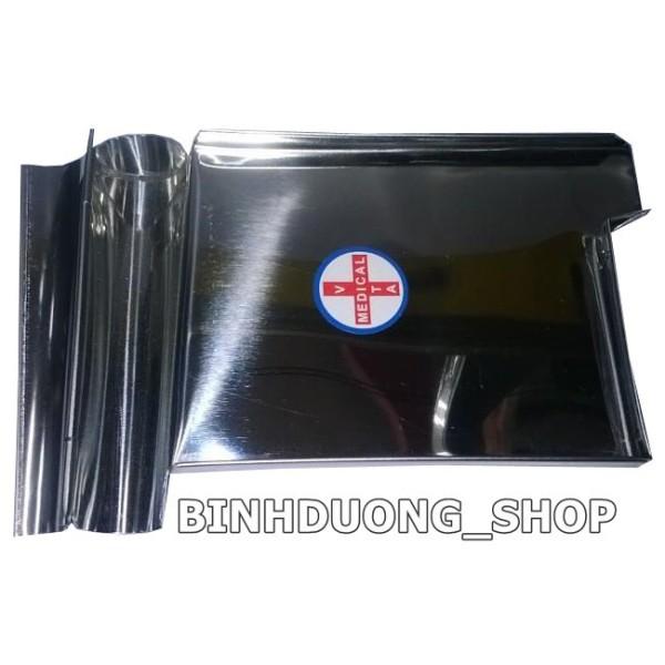 Khay Chia Thuoc Inox cỡ lớn kích thước 14x18x1 cm
