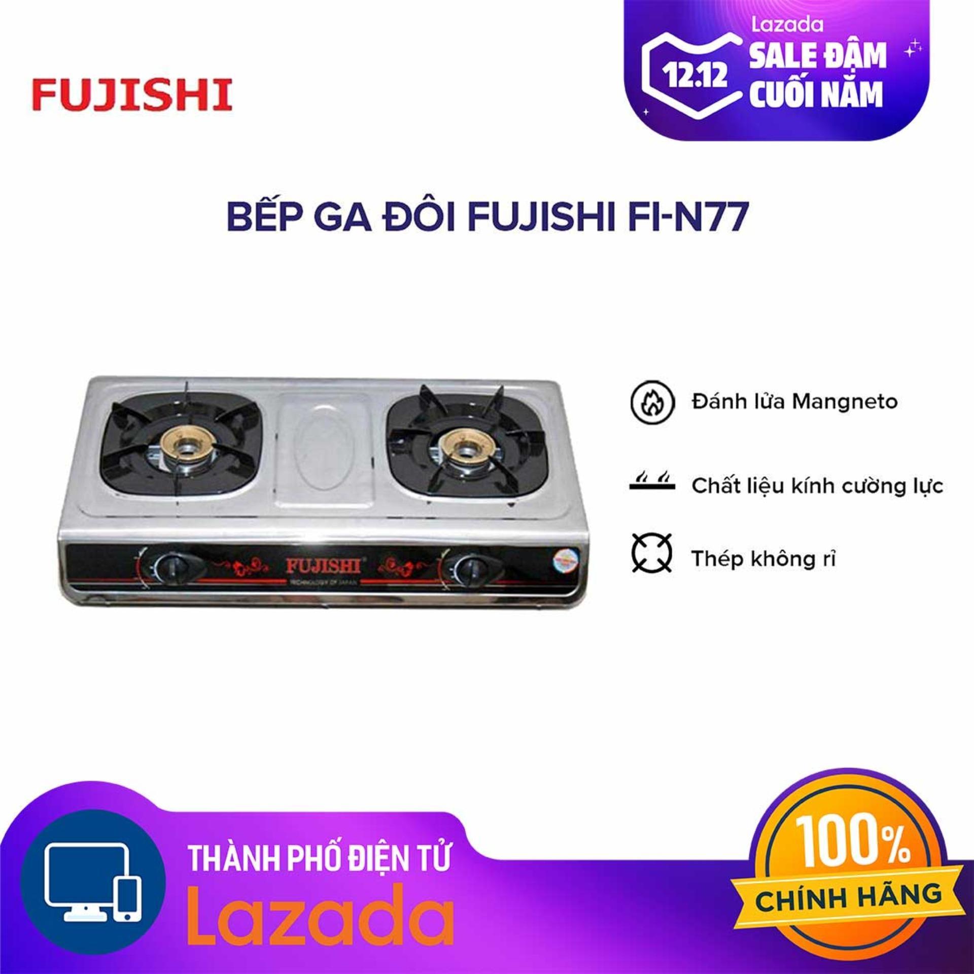 Bếp ga đôi Fujishi FI-N77