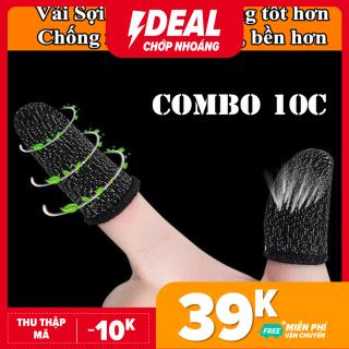 Combo 10 bao ngón tay chơi game mobile chống trơn trượt, mồ hôi, vải sợi bạc cao cấp - Thao tác dễ dàng, cảm ứng cực mượt - Găng tay chơi game- Bao đầu ngón tay chơi game thumbnail