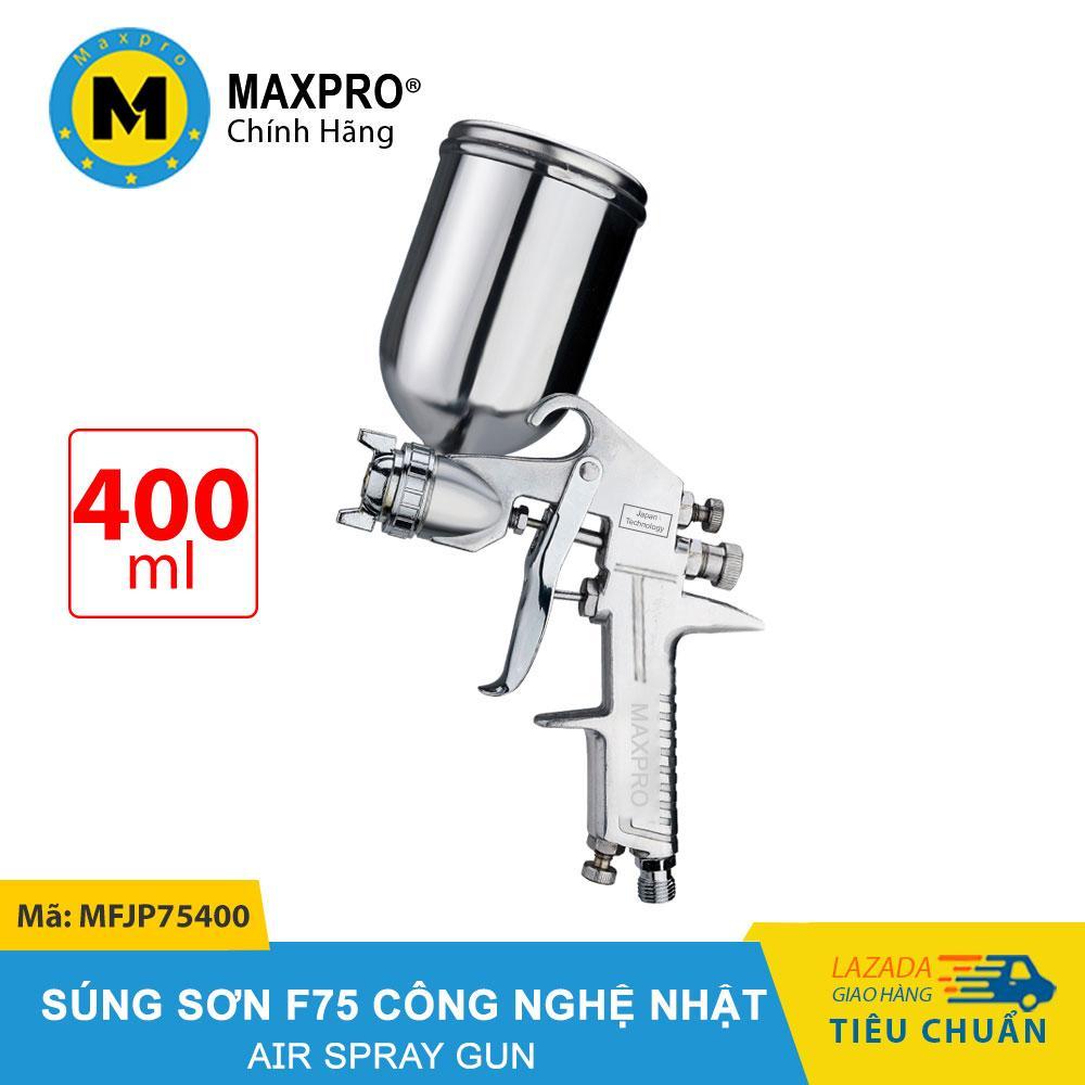 Máy Phun Sơn F75 MAXPRO Công Nghệ Nhật Bình Chứa Sơn 400ml – MFJP75400