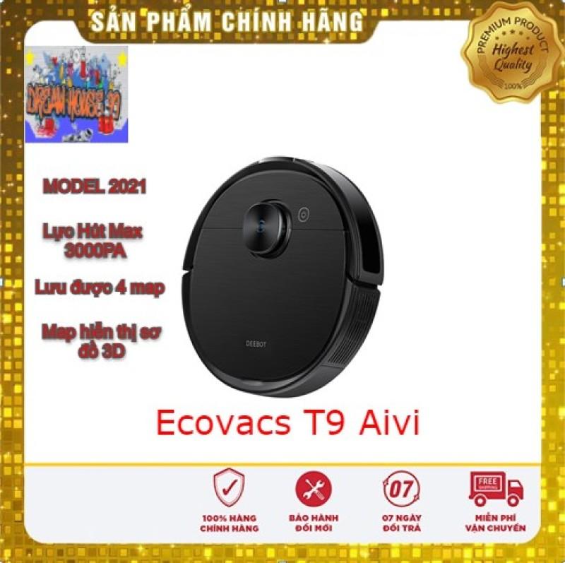 Robot hút bụi lai nhà Ecovacs Deboot T9 Aivi- Lực hút max 3000PA-Tặng App Ecovacs Home