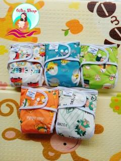 COMBO 3 bộ bỉm vải babu nature chống tràn [gồm 3 quần 6 lót] size M 3-12kg, L 10-20 kg thumbnail