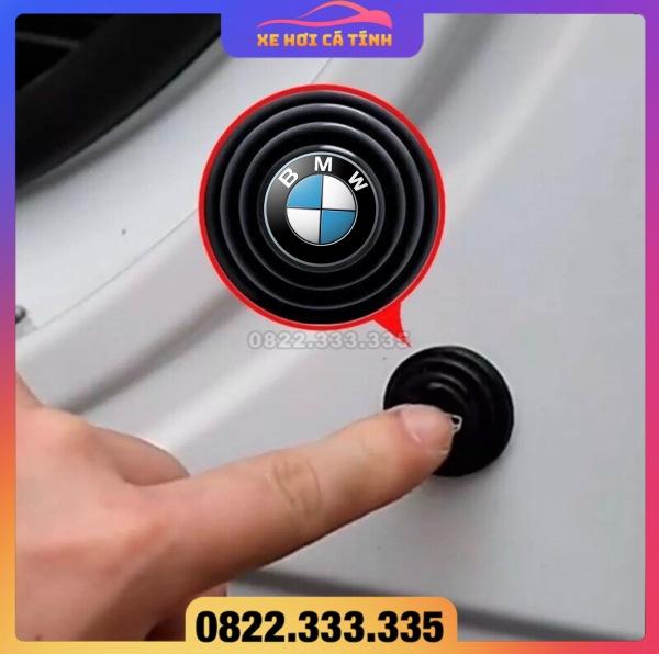 Nút dán giảm lực đóng bảo vệ cửa xe ô tô, miếng dán Silicon bảo vệ cửa ô tô logo các hãng xe