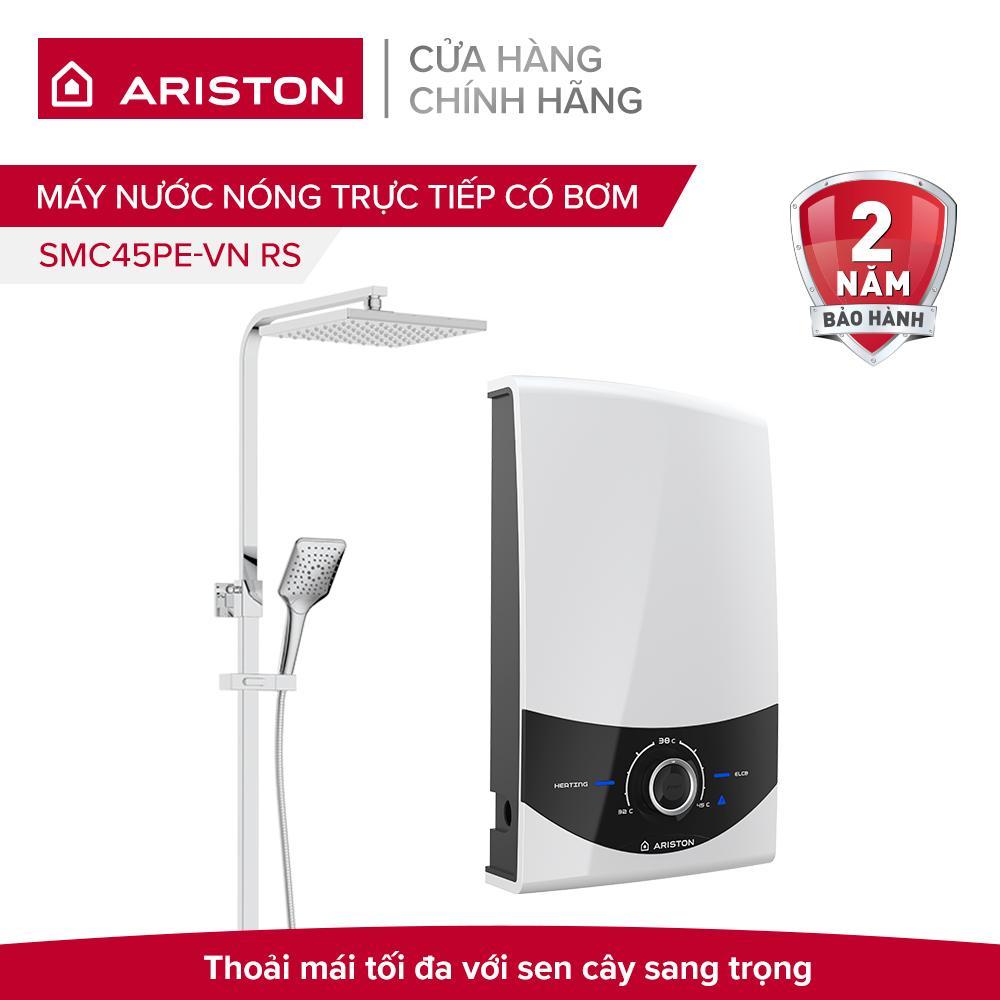 Bảng giá Máy nước nóng trực tiếp có bơm Ariston SMC45PE-VN RS 4500W (Rainshower)
