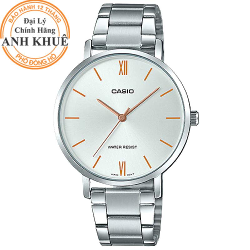 Đồng hồ nữ dây kim loại Casio Anh Khuê LTP-VT01D-7BUDF