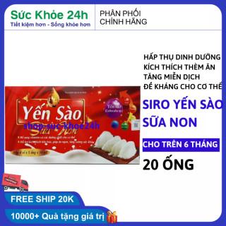 Siro yến sào ăn ngon , ngủ ngon , tăng cân , tăng sức đề kháng cho bé hộp 20 ống x 10ml HSD 2023 thumbnail