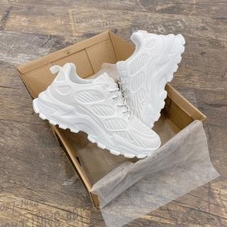 Giày sneakers độn đế thể thao trắng 2699 thumbnail
