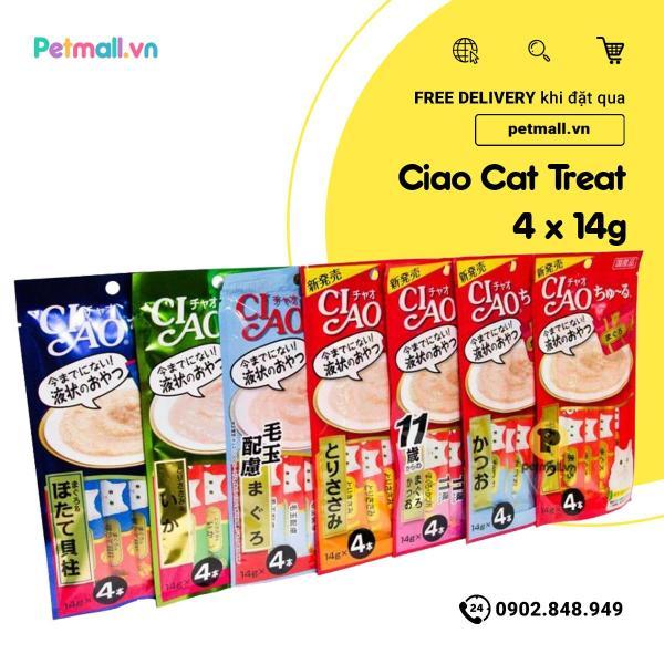 Snack lỏng Ciao Churu cho mèo 4x14g