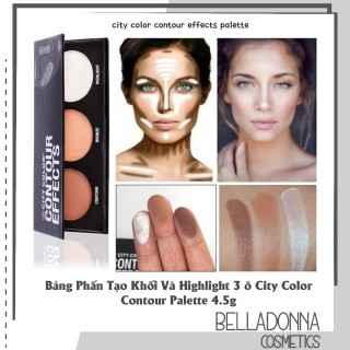 Bảng Phấn Tạo Khối Và Highlight 3 ô City Color Contour Palette 4.5g thumbnail