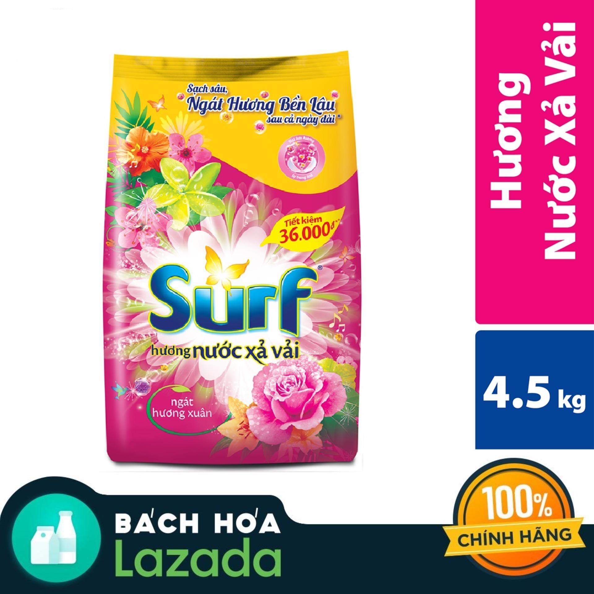 Giảm Giá Ưu Đãi Khi Mua Bột Giặt Surf 2 In 1 Hương Xuân 6kg