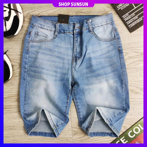 Quần short jean nam SS807 shop SUNSUN chuyên quần sọt nam đẹp
