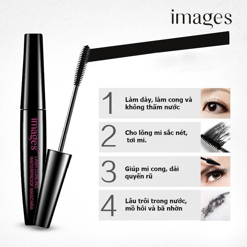 Mascara IMAGES chuốt mi dài và cong vút chuốt mi đẹp makeup trang điểm mascara nội địa trung HT-TL147 cao cấp