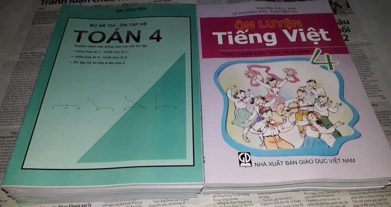 Mua Bộ đề thi Môn Toán lớp 4 + Ôn luyện Tiếng Việt lớp 4 (thi giữa học kì 1, cuối học kì 1, giữa học kì 2, cuối học kì 2)
