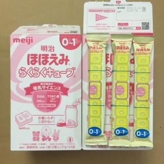 Sữa Meiji cho trẻ sơ sinh 0-1 dạng thanh nội địa nhật phát triển toàn diện (loại 48 thanh) thumbnail