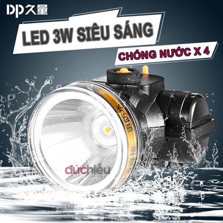 [ Hàng Chất Lượng ] Đèn Pin đội đầu Chống Nước DP-7229, đèn đội đầu, đèn đeo đầu, đèn đeo Trán, đèn Soi ếch - Đức Hiếu Shop Có Giá Tốt