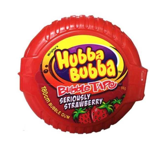 [Hot] Kẹo Singum ( cao su ) cuộn siêu dài Hubba Bubba Bubble tape dài 180cm vị  Dâu Tây ( Mẫu mới - Nội địa USA - Xách tay Mỹ )