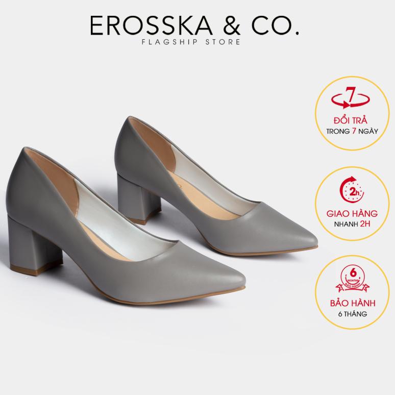 Giày cao gót Erosska mũi nhọn kiểu dáng cơ bản cao 5cm EP011 (GR) giá rẻ