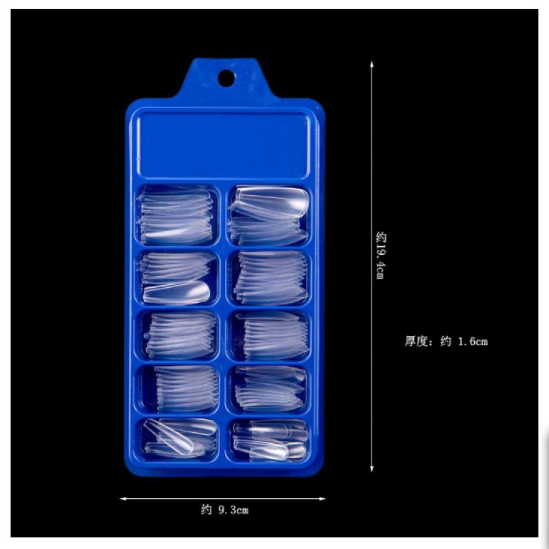 Hộp móng úp phom thang 100 chiếc đủ size từ 0 đến 9 hnnail shop giá rẻ