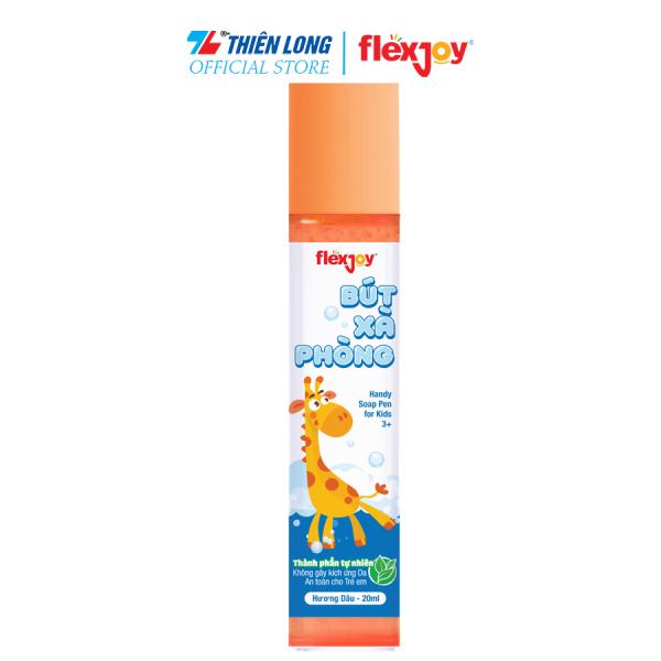 Bút xà phòng rửa tay Flexjoy (Flex-JSP001) - Thành phần tự nhiên: Sạch tay, An toàn, Không gây kích ứng da - Có 3 mùi hương (dâu, táo, mâm xôi)