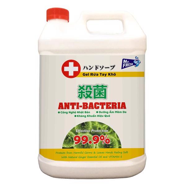Nước rửa tay khô diệt khuẩn an toàn Mr. Fresh 5L Hương Xả (dạng gel) BH750