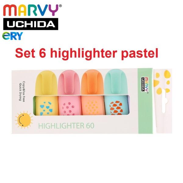 Mua Bộ bút đánh dấu 6 màu pastel Marvy - Highlighter 60, sản phẩm chất lượng cao và được kiểm tra kỹ trước khi giao hàng