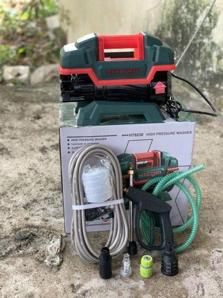 Máy xịt rửa xe siêu mạnh HTCom 8230 2400W Chính hãng , dây xịt dài 10M