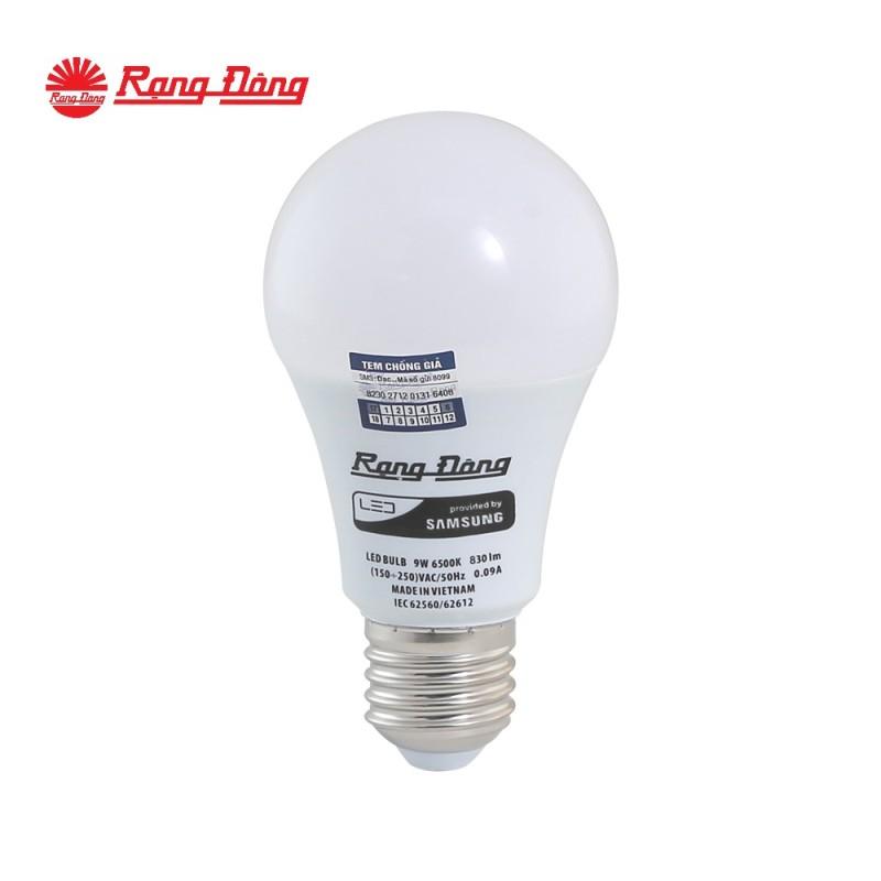 LED BULB Chính hãng Rạng Đông Siêu tiết kiệm điện Tuổi thọ cao Chất lượng ánh sáng đẹp Chip LED tin cậy (LED A60N1/9W) E27 trắng, vàng S