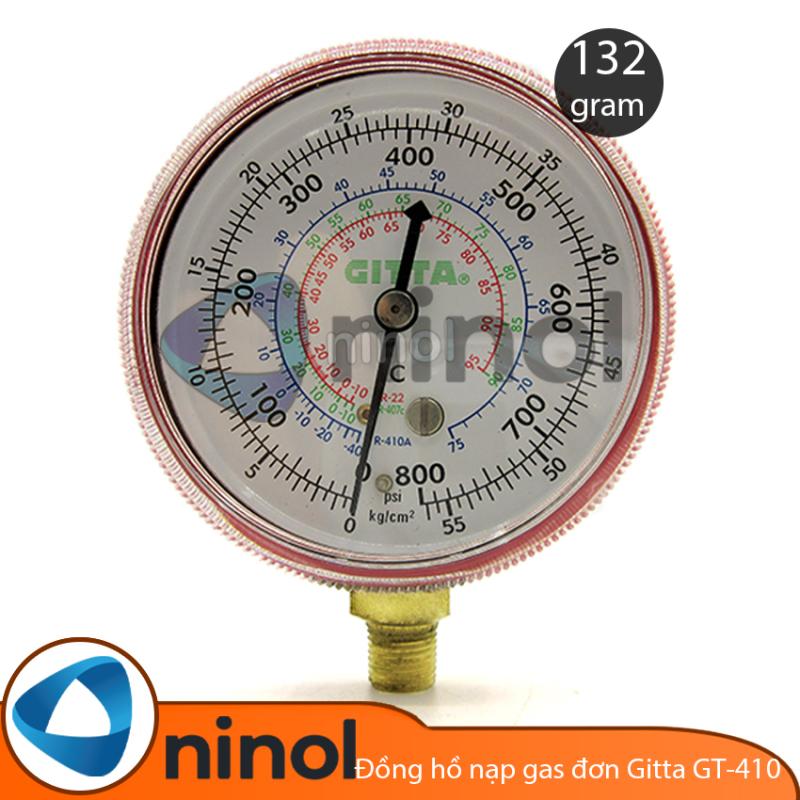[Lấy mã giảm thêm 30%]Đồng hồ nạp gas đơn Gitta GT-410