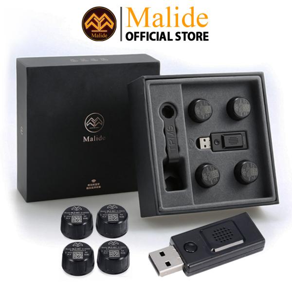 [CHÍNH HÃNG] Cảm biến áp suất lốp van ngoài Malide cao cấp kết nối APP điện thoại độc quyền - USB cảnh báo giọng nói khi gặp sự cố - Hiển thị APP đồng bộ trên nhiều thiết bị - BẢO HÀNH 24TH - MỘT ĐỔI MỘT 365 NGÀY - B01R06