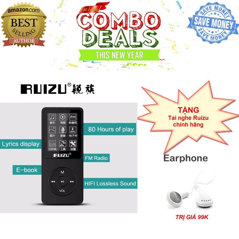 Máy nghe nhạc mp3 RUIZU X02 - Hàng công ty nhập khẩu phân phối - Fullbox - Bảo hành 6 tháng lỗi đổi mới