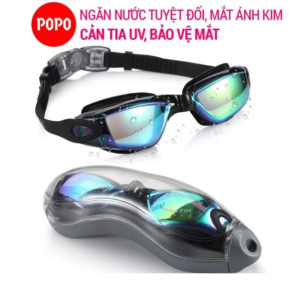 Kính bơi người lớn cho nam, nữ POPO 2360 tráng gương mắt kiếng bơi chống tia UV chống hấp hơi khóa kính bơi thông minh