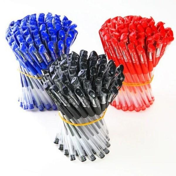 Mua combo 100 cây bút bi mực nước-viết êm tay-đủ màu