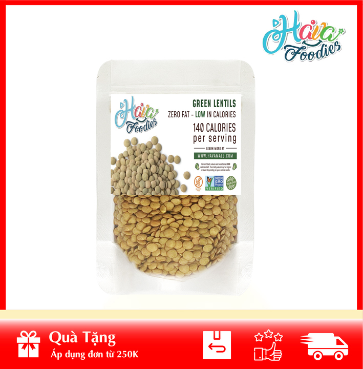 [ HÀNG CÔNG TY NHẬP KHẨU ] Đậu Lăng Xanh Nguyên Hạt Canada 200gr – Canada Lentil Peas 200g