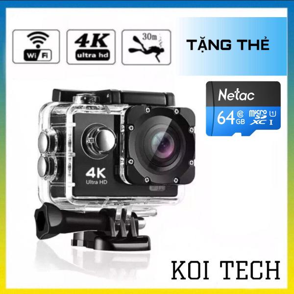 [ TẶNG KÈM THẺ NHỚ 64GB ] Camera hành trình chống nước chống rung 4K 16M Ultra HD DV, kết nối wifi ( Goplus Cam), góc quay 170 độ - CAMERA HÀNH TRÌNH XE MÁY WIFI