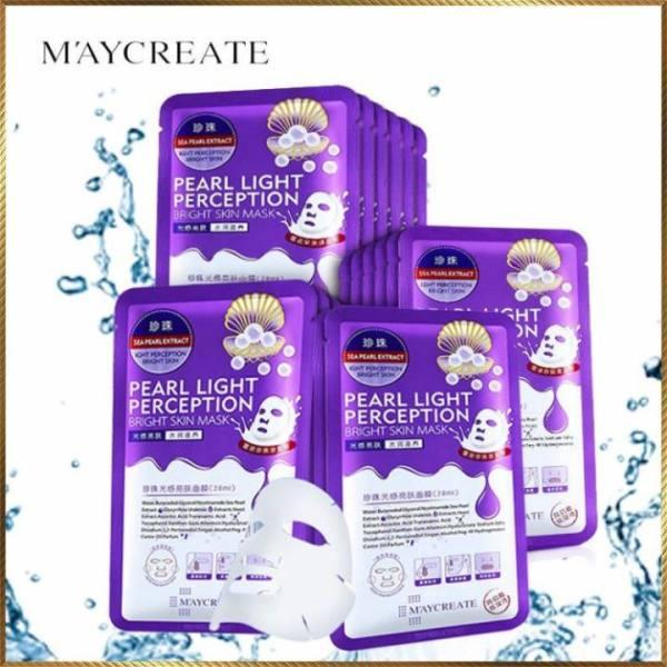 Bộ 20 miếng mặt nạ đắp mặt siêu cấp ẩm MayCreate HA Xanh/Tím Pearl Light giá rẻ