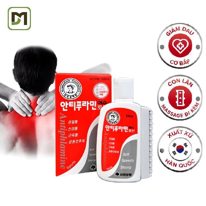 Dầu nóng Hàn Quốc Antiphlamine chai 100ml Lăn Massage giảm đau nhức massage cơ thể