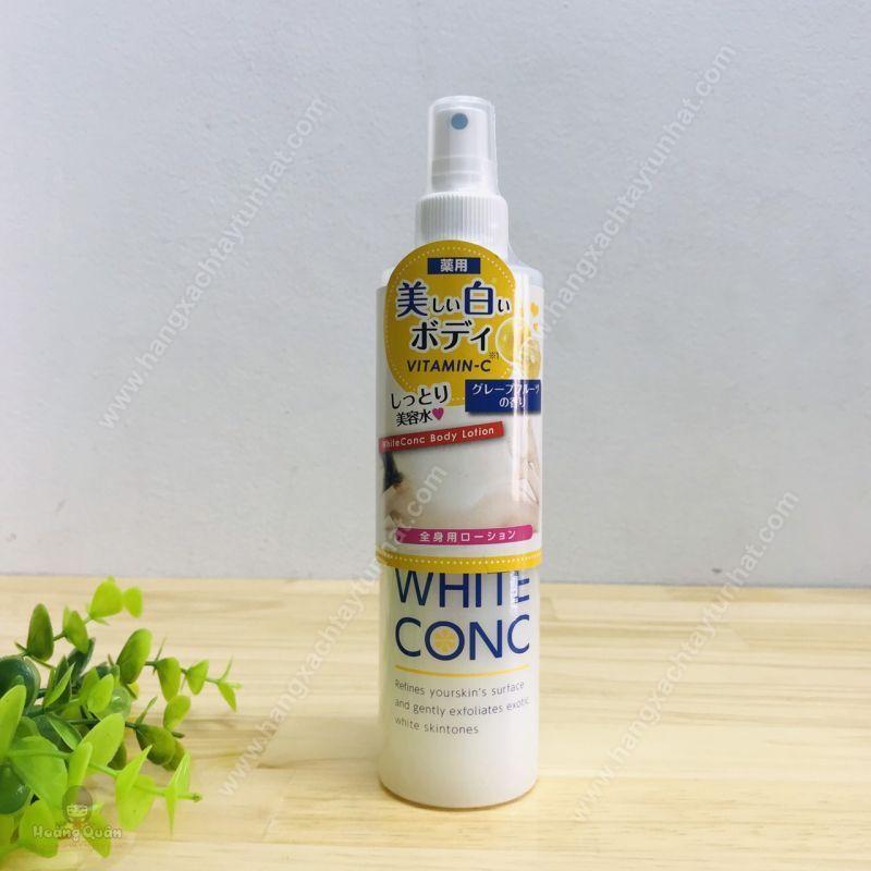 Xịt Dưỡng Trắng White Conc Body Lotion 245ml giá rẻ