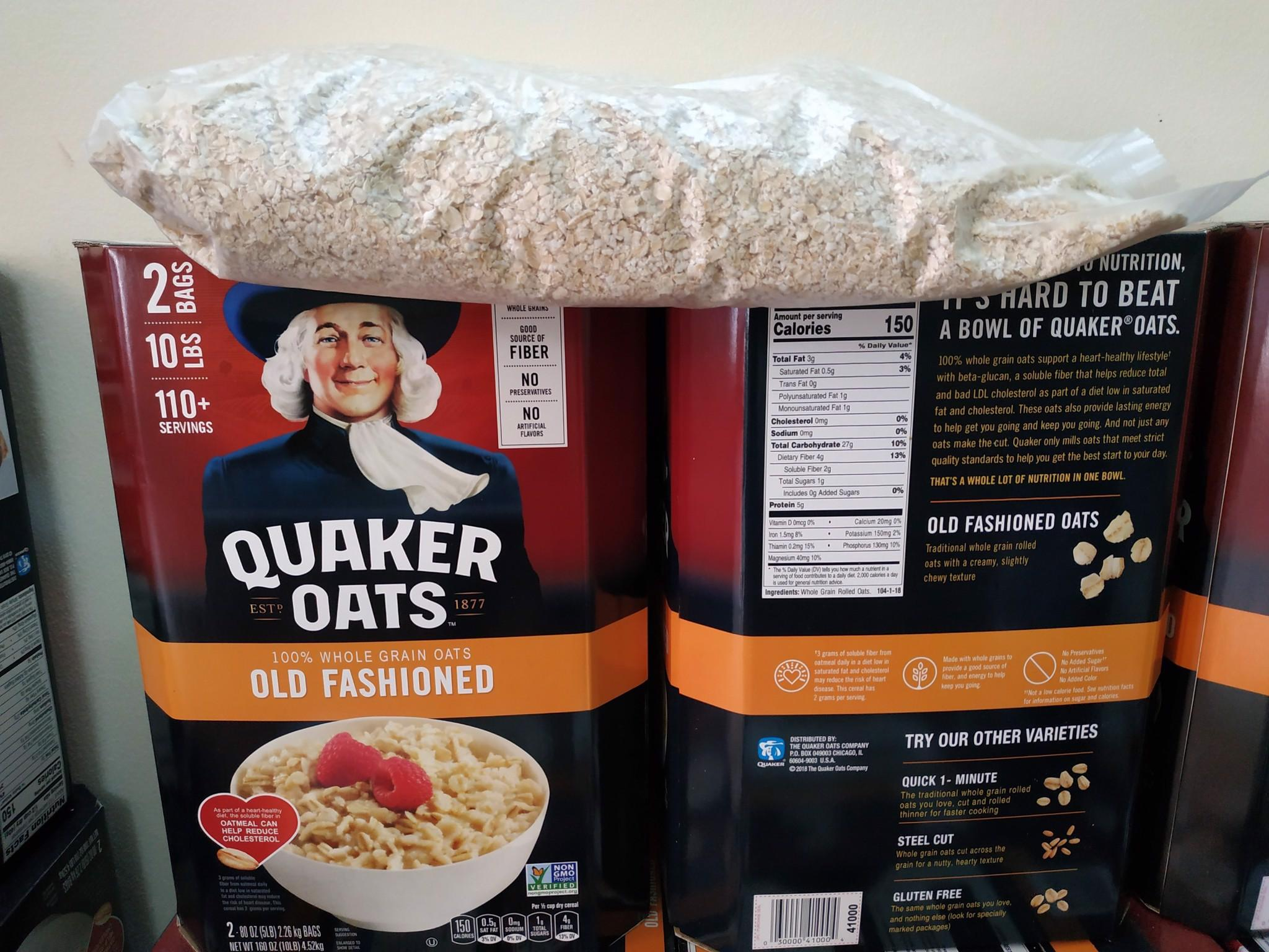 Nửa Thùng Yến Mạch Quaker Oats Old Fashiones 2.25kg - Mỹ Siêu Khuyến Mãi
