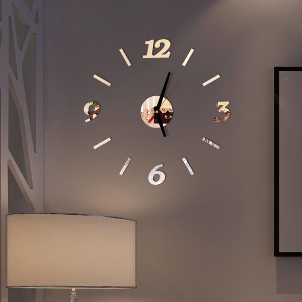 Đồng hồ dán tường loại nhỏ 4 số 3-6-9-12 - Đồng hồ treo tường - 40cm - DH06