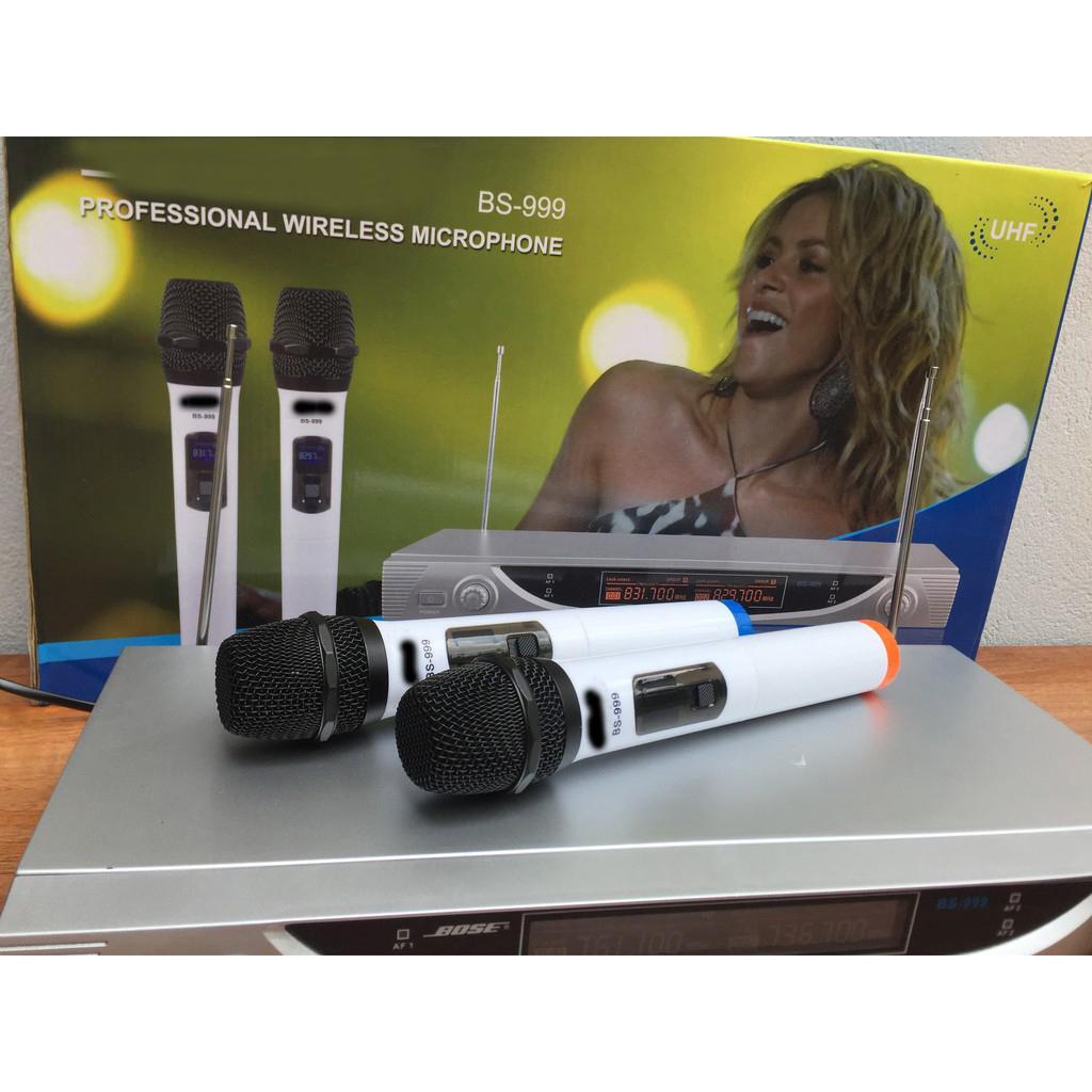 Voucher Khuyến Mãi Bộ Micro Karaoke Không Dây B0 SEmodel BS-999
