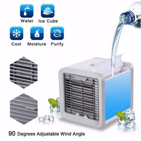 [MIỄN PHÍ VẬN CHUYỂN] Quạt điều hòa mini hơi nước để phòng - Quạt hơi nước mini để bàn - Quạt điều hòa hơi nước - 3 chế độ, tạo ẩm, làm mát