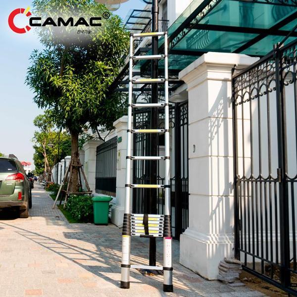 Thang nhôm rút đơn 4m4 CAMAC Hàn Quốc. Bảo hành 24 tháng