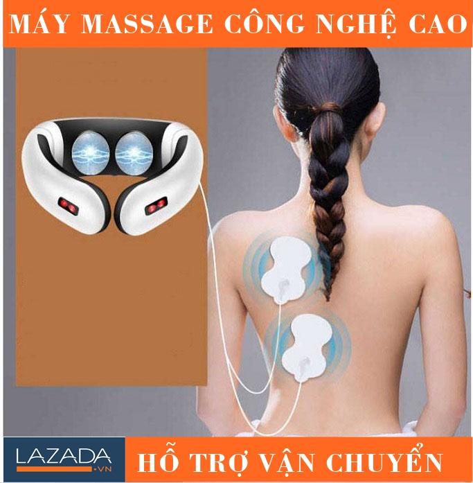 Máy Massage Giảm Đau Mỏi Cổ Thông Minh Công Nghệ Cao, Trị Liệu Sâu Hiệu Quả. Đang Có Giảm Giá
