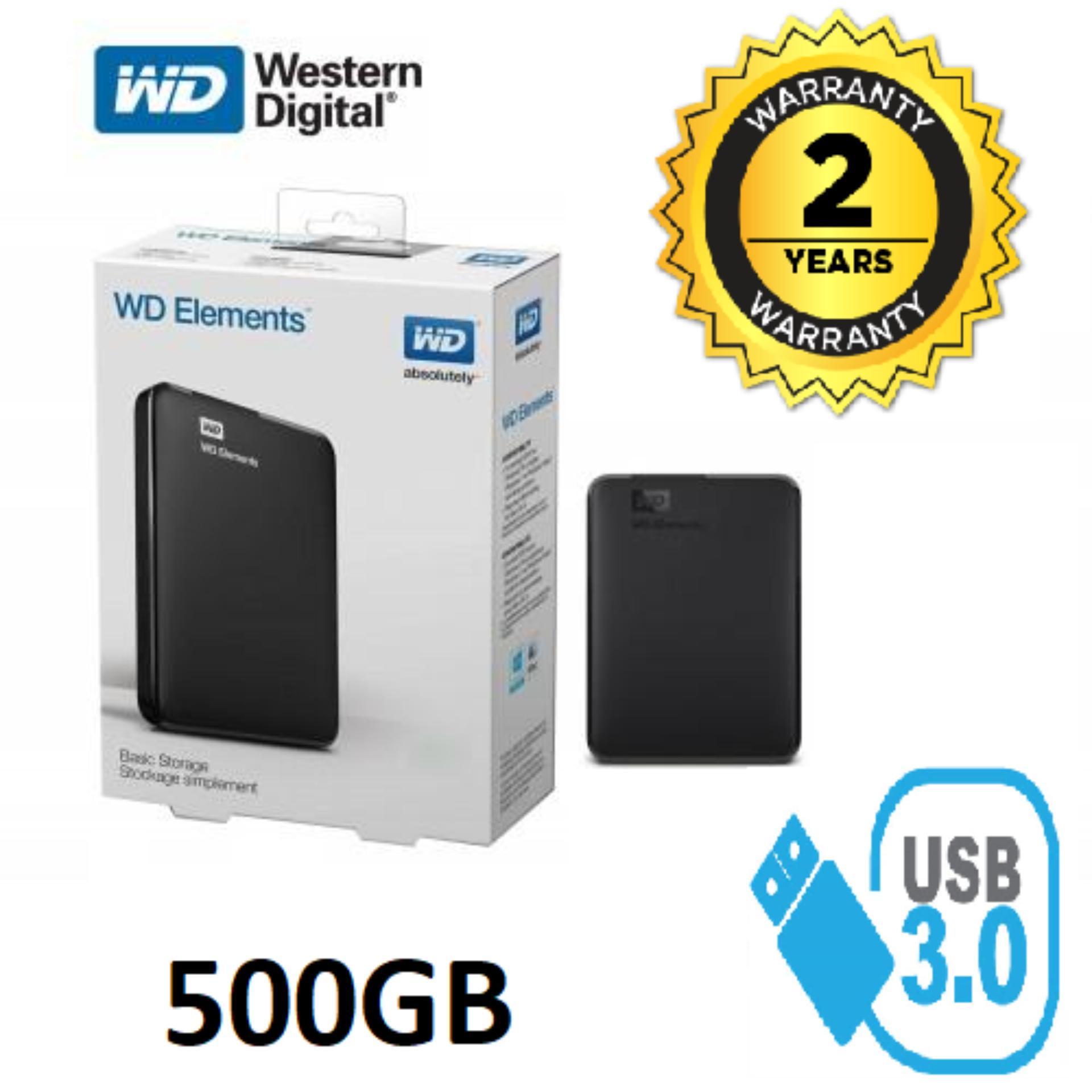 Ổ Cứng Di Động 500GB 3.0 Western Elements - Bảo Hành 24 Tháng 1 đổi 1 - Tặng Túi Chống Sốc Bất Ngờ Ưu Đãi Giá