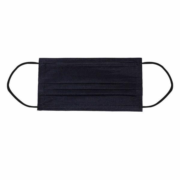 KHẨU TRANG VẢI KHÔNG DỆT KHÁNG BỤI có thể giặt lại (màu đen) - TÚI 5 CÁI