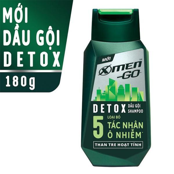 X Men -   Dầu gội X-Men Go DETOX Than Tre Hoạt Tính 180G  - Giá Sỉ tốt nhất